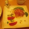 トマトとモッツァレラチーズのカプレーゼと生ハムのマリネ