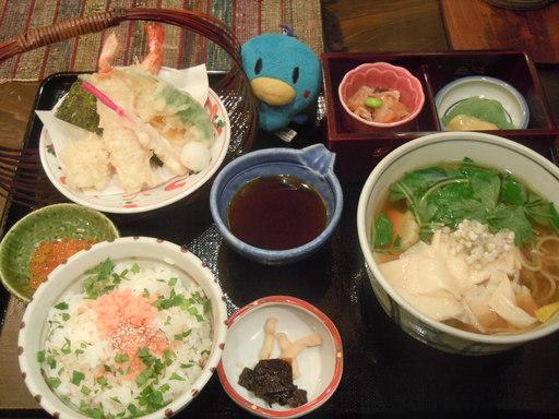比叡山麓 鶴喜そば@モザイクダイニング:冬の味覚定食