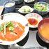 八海山サーモンの塩麹漬けといくらの丼