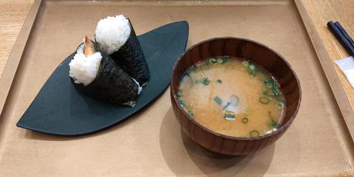 おむすびセット+味噌汁